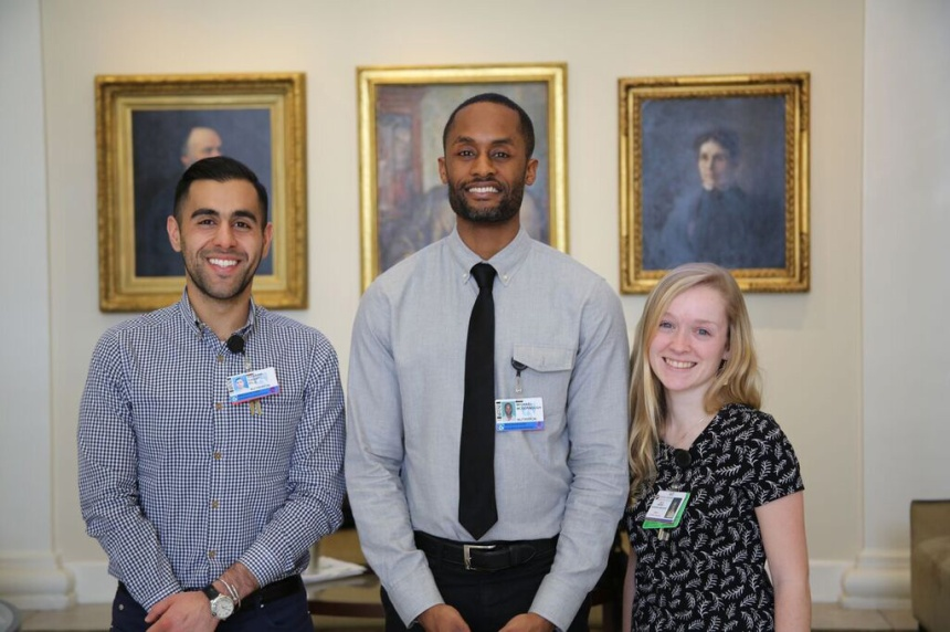 Dietetic interns, from left to right: Hassan Dashti, Michael McDonnough and Ruth Wendel