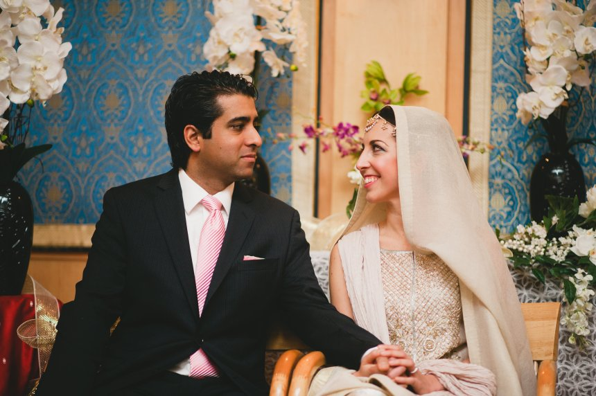 Zahid and Afsaneh Rathore on their wedding day