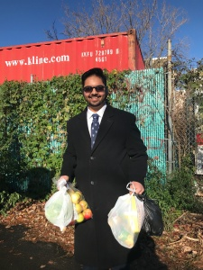 Shubhankar Joshi at the American Red Cross food pantry in Dorchester